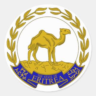 Eritrea Pegatina Redonda