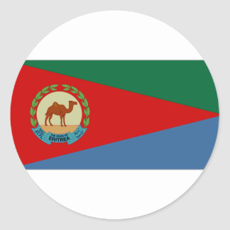 Eritrea President Flag Classic Round Sticker