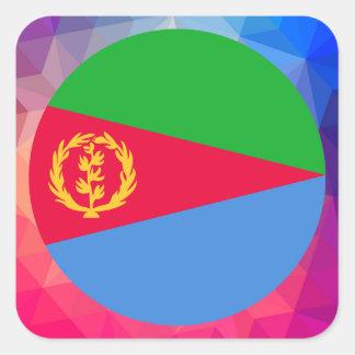 Eritrea Souvenir Square Sticker