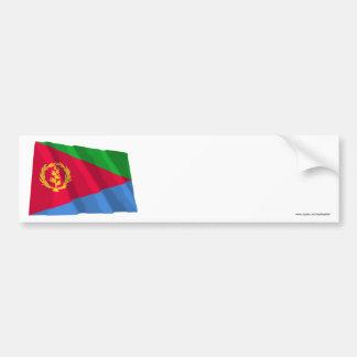 Eritrea Waving Flag Bumper Sticker