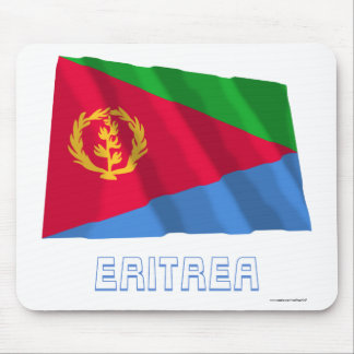 Eritrea Waving Flag with Name Mouse Pad