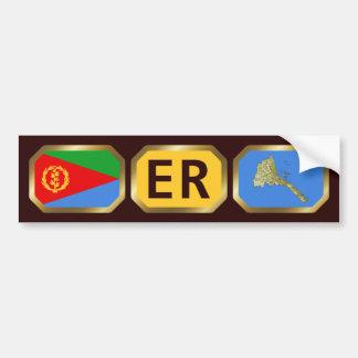 Eritrean Flag Map Code Bumper Sticker Car Bumper Sticker