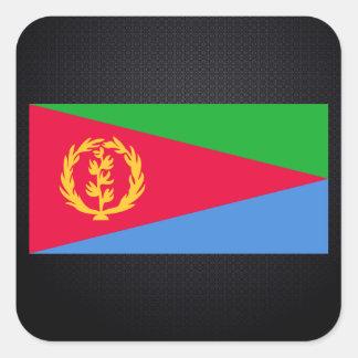 Eritrean flag square sticker