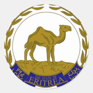 Eritria Coat of Arms Classic Round Sticker