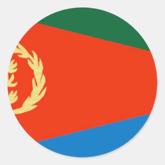 Eritria Flag Classic Round Sticker