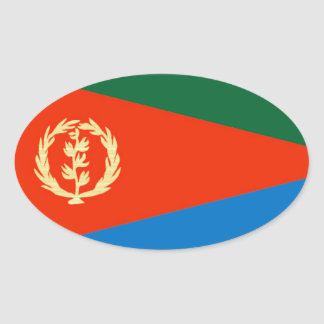 Eritria Flag Oval Sticker