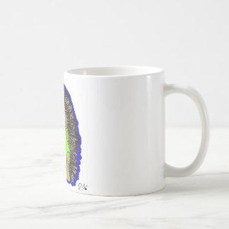erizo azul marino taza