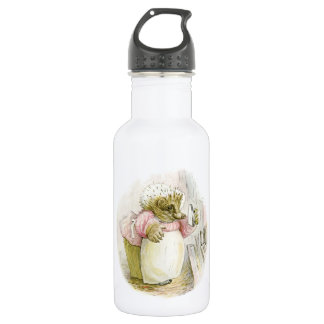 Erizo con señora Tiggy-Bígaro del hierro Botella De Agua