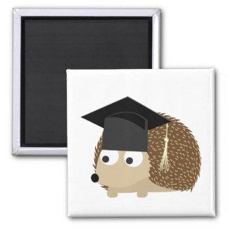 Erizo de la graduación imán cuadrado