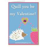 Erizo de la tarjeta del día de San Valentín