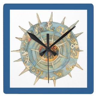 erizo de mar reloj cuadrado