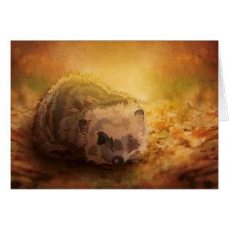 Erizo del otoño tarjeta de felicitación