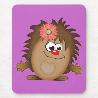Erizo lindo del dibujo animado alfombrillas de ratón
