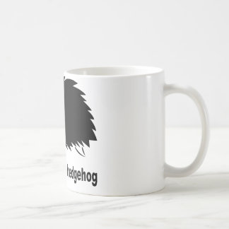 Erizo - respete el erizo taza básica blanca