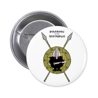 Erizo Viking en el escudo Pin Redondo De 2 Pulgadas