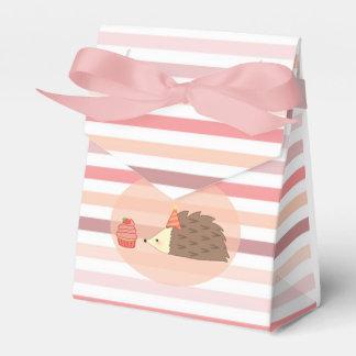 Erizo y magdalena del fiesta cajas para detalles de boda