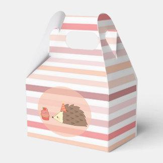 Erizo y magdalena del fiesta caja para regalos