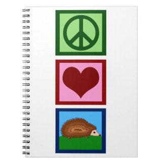 Erizos del amor de la paz cuaderno