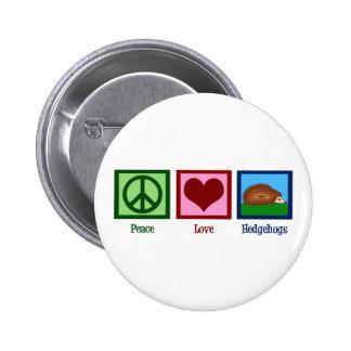 Erizos del amor de la paz pin redondo 5 cm