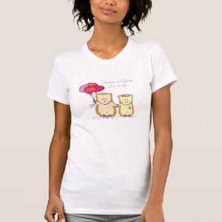 Erizos lindos con los globos, pares nuevamente cas camisetas