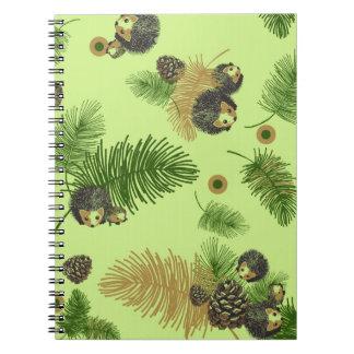 Erizos y cuaderno de Pinecones