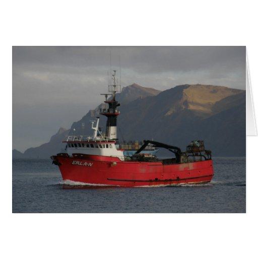 Erla N, Crab Boat in Dutch Harbor, Alaska Cards