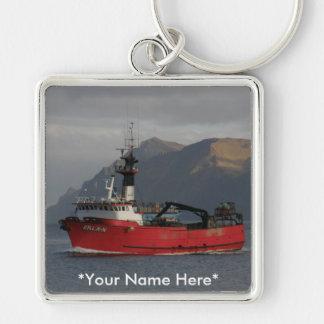 Erla N, Crab Boat in Dutch Harbor, Alaska Keychain