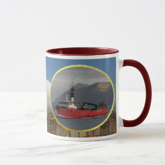Erla N, Crab Boat in Dutch Harbor, Alaska Mug