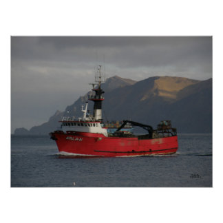 Erla N, Crab Boat in Dutch Harbor, Alaska Posters