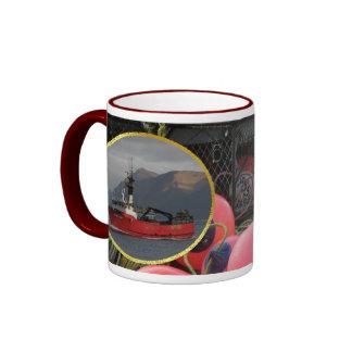 Erla N, Crab Boat in Dutch Harbor, Alaska Ringer Mug