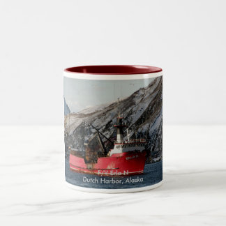 Erla N, Crab Boat in Dutch Harbor, Alaska Two-Tone Coffee Mug