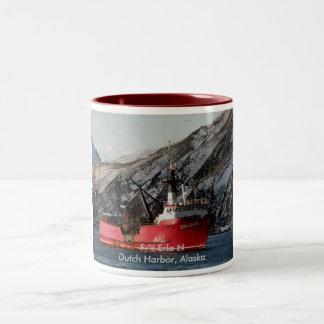 Erla N, Crab Boat in Dutch Harbor, Alaska Two-Tone Coffee Mug
