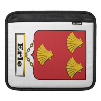 Erle Family Crest iPad Sleeves