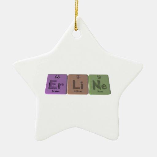 Erline como neón del litio del erbio ornamento para arbol de navidad