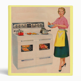 Erma and her double-barreled oven binder