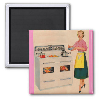 Erma and her double-barreled oven magnet