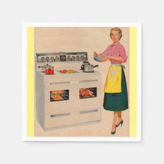 Erma y su horno doble-barreled servilletas de papel