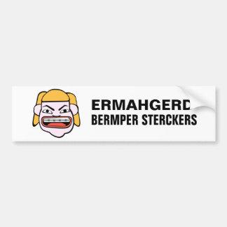 Ermahgerd Bermper Sterckers Pegatina Para Coche