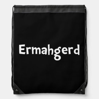 Ermahgerd Drawstring Backpack