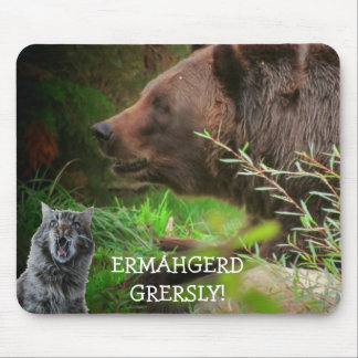 Ermahgerd Gersley! Cat Meme Mouse Pad