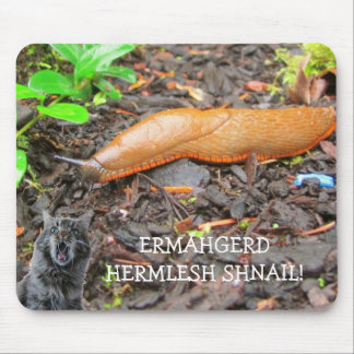 Ermahgerd Hermlesh Shnail! Mouse Pad