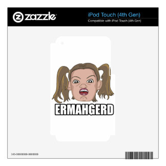 ERMAHGERD CALCOMANÍA PARA iPod TOUCH 4G