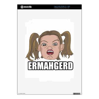 ERMAHGERD CALCOMANÍA PARA iPad 2