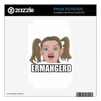 ERMAHGERD iPhone 3 CALCOMANÍAS