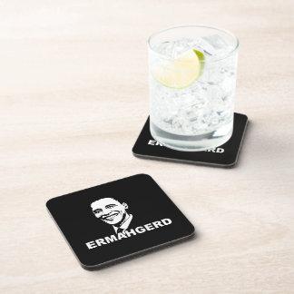 ERMAHGERD OBAMA.png Drink Coaster