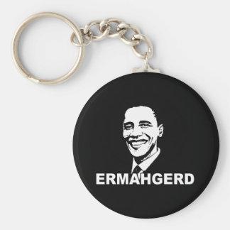 ERMAHGERD OBAMA.png Keychain