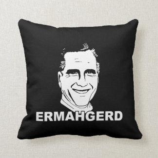 ERMAHGERD ROMNEY.png Throw Pillow