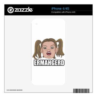 ERMAHGERD iPhone 4 CALCOMANÍAS