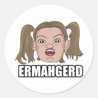 Ermahgerd Classic Round Sticker