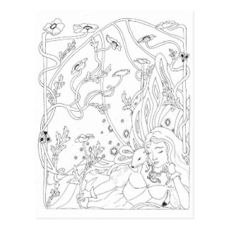 Ermine Fairy Post Card